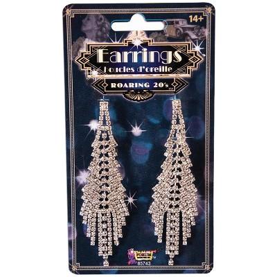 Forum Novelties Flapper Rhinestone Earrings