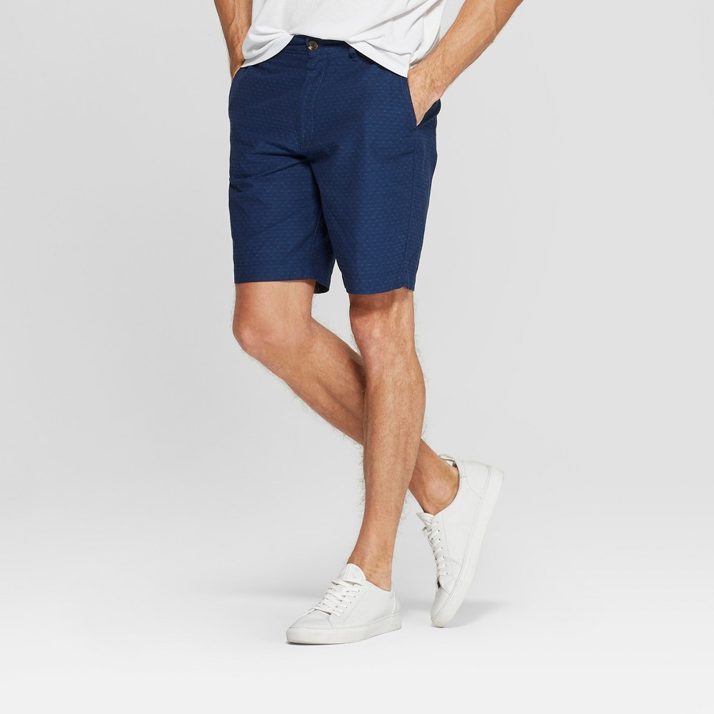 Men's 9 Slim Fit Chino Shorts - Goodfellow & Co Xavier Navy 29, Blue