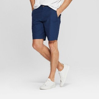 Mens 9u0022 Slim Fit Chino Shorts - Goodfellow & Co™ Xavier Navy 32