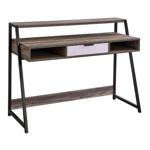 Sahana Desk Black/Driftwood - Buylateral - image 1 of 4