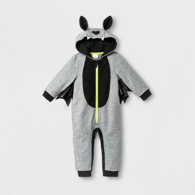Baby Boys' Hooded Bat Wing Romper - Cat & Jack™ Gray <br>0-3M