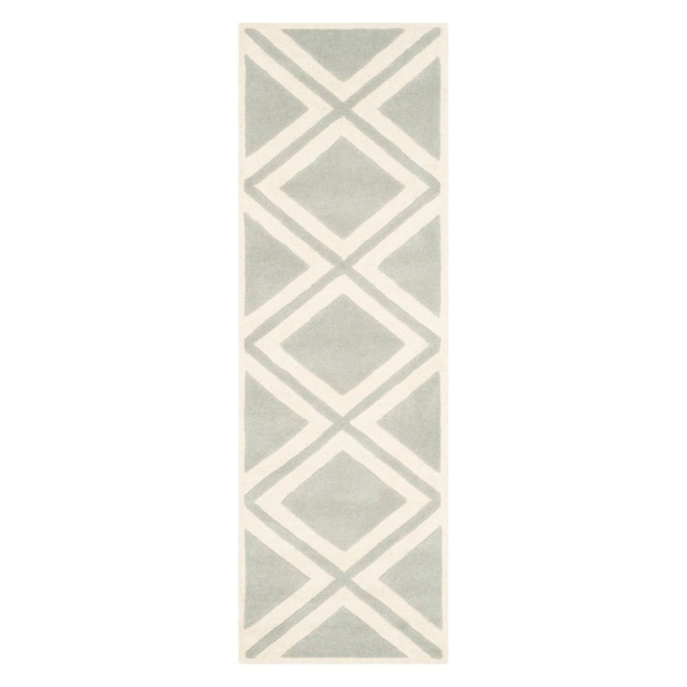 23X7 Geometric Tufted Runner Gray/Ivory - Safavieh Price