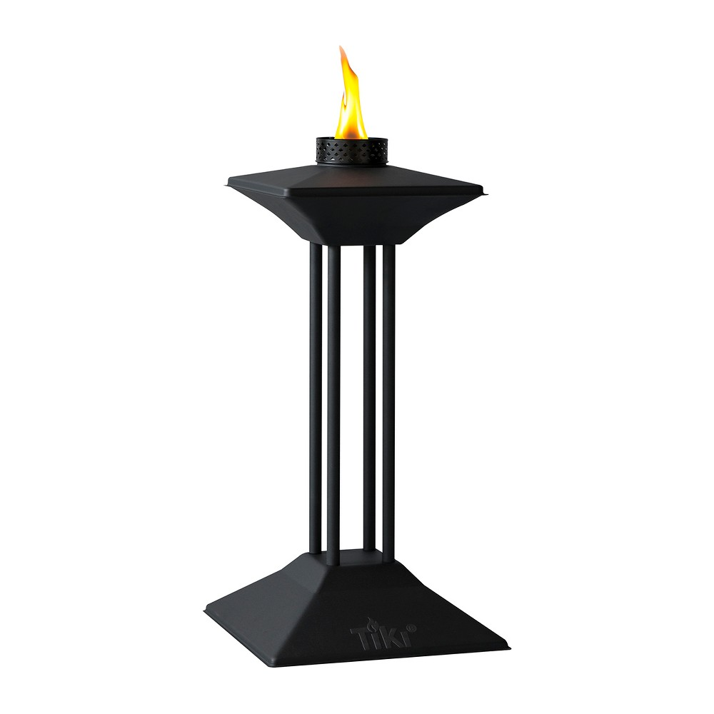 Scupture Outdoor Patio Torch Fire - Tiki, Black