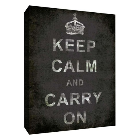 "Keep Calm And Carry On Decorative Canvas Wall Art 11""x14"" - PTM Images - image 1 of 1"
