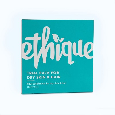 Ethique Hair and Body Bar Trial Pack for Dry Skin & Hair  - 2.12oz