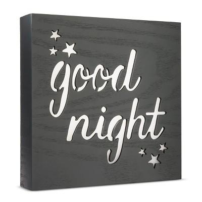 LED Light Box Good Night - Cloud Island™ Dark Gray
