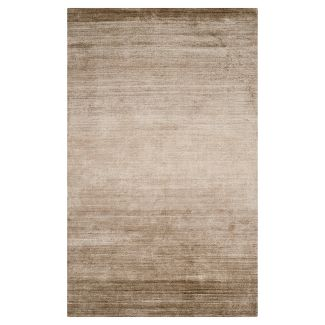 Champagne Solid Woven Area Rug 6 X9 Safavieh