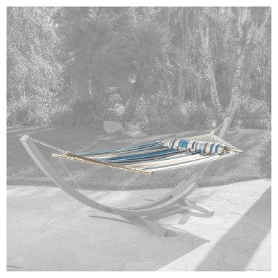 Richardson Stripe Outdoor Hammock Fabric - Brown/Blue/White - Christopher Knight Home