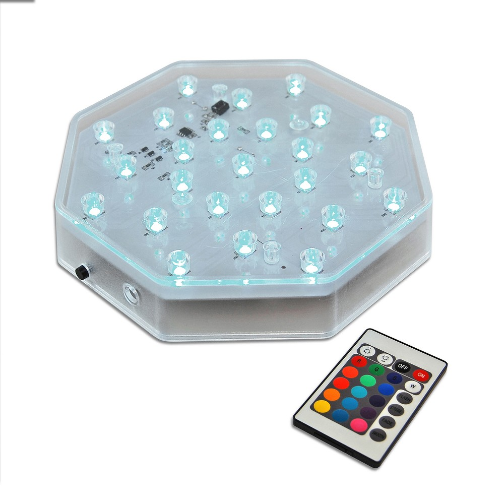 Image of Battery Operated Octagonal Base Light LED With Remote Control