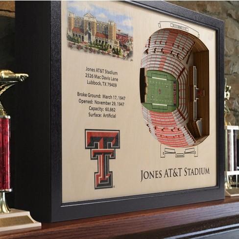 NCAA Texas Tech Red Raiders 25 Layer Stadiumviews 3D Wall Art : Target