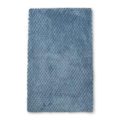 34 x20  Tufted Accent Bath Rug Dusty Blue - Fieldcrest®