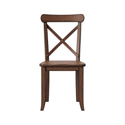 Litchfield Set of 2 X-Back Dining Chair Espresso Brown - Threshold™