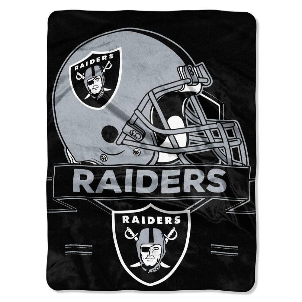 NFL Oakland Raiders Raschel Throw Blanket