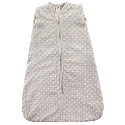 Hudson Baby Infant Plush Sleeping Bag, Sack, Blanket, Light Gray Dot Mink