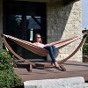 Vivere 8 ft Double Sunbrella Hammock with Solid Pine Arc Stand - image 3 of 4