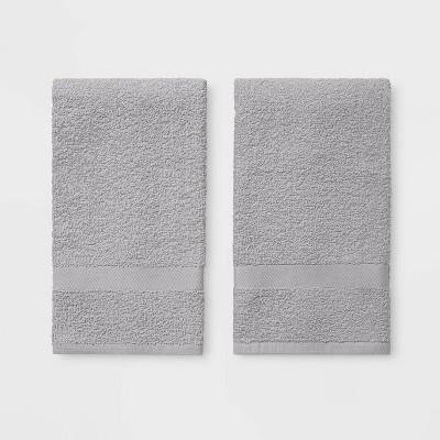 2pk Hand Towel Gray - Room Essentials™