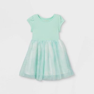 Toddler Girls' Tie-Dye Tulle Dress - Cat & Jack™ Aqua