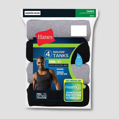 99749ac4e4cfb5 Hanes® Men s 4pk Stretch U-Neck T-Shirt XXL - Multi-Colored   Target