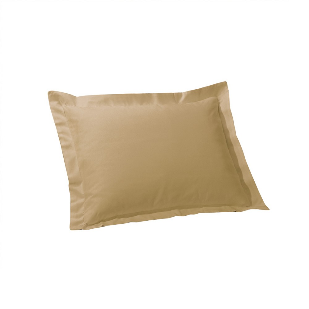 Image of Tailored Sham - Mocha (Euro), Brown