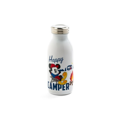 Mickey Mouse & Friends Mickey Mouse Plastic/Stainless Steel Happy Camper Water Bottle 11.5oz - White - image 1 of 1