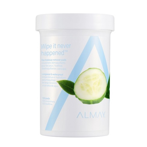 Almay Longwear & Waterproof Eye Makeup Remover Pads - 120ct - image 1 of 4