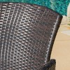 Henaya 7pc Wood and Wicker Dining Set - Multibrown/Teak - Christopher Knight Home - image 3 of 4