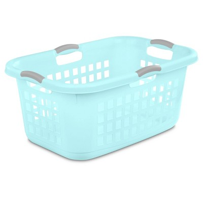 2 Bushel Laundry Basket Aqua with Gray Handles - Room Essentials™