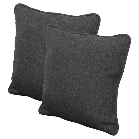 Rolston Outdoor set of 2 Accent Pillow - Charcoal - Threshold™ - image 1 of 1