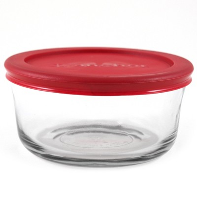 Anchor Hocking 2 Cup Classic Glass Food Storage Containers with Lids