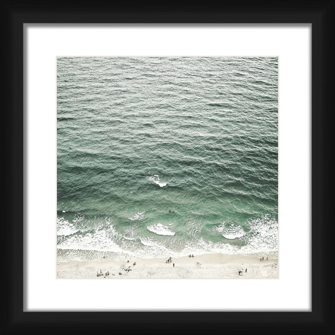 """18"""" x 18"""" Matted to 2"""" Distant Shore Picture Frame Black - PTM Images - image 1 of 4"""
