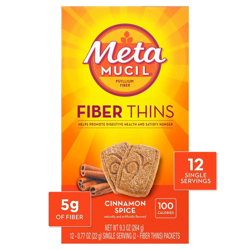 Metamucil Multi Grain Fiber Wafers Cinnamon Spice 12ct