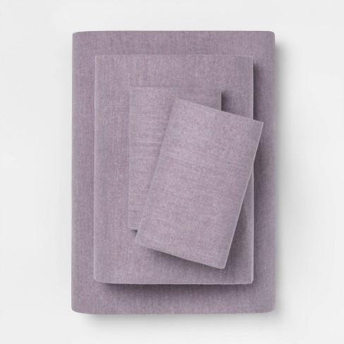 Solid Flannel Sheet Set - Threshold™ - image 1 of 1