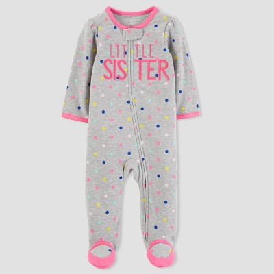 Baby Girls' Little Sister Sleep N' Play - Just One You® made by carter's Gray 3M
