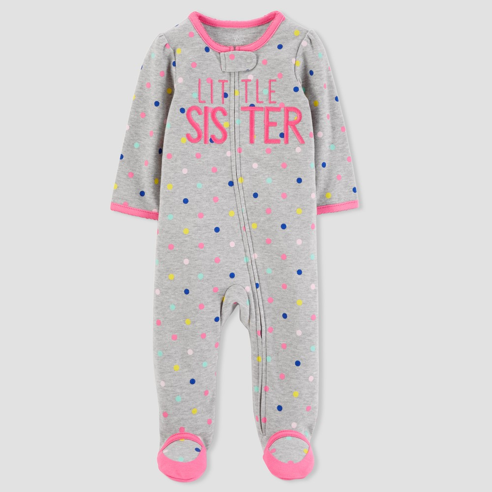 Baby Girls' Little Sister Sleep N' Play - Just One You made by carter's Gray 6M