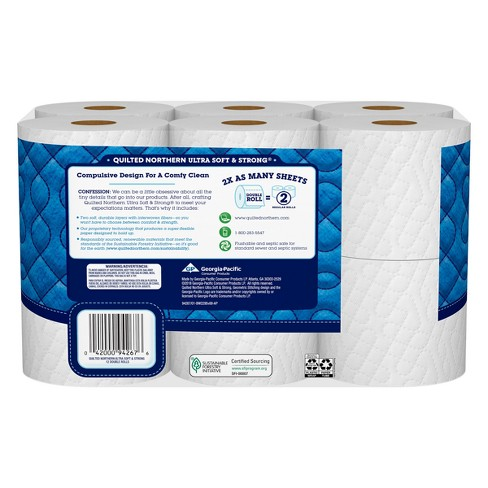 Quilted Northern Ultra Soft Strong Toilet Paper 48 Double Rolls