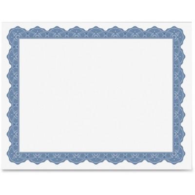 "Geographics Parchment Certificates Blank 8-1/2""x11"" 8/PK Blue 40725OD"