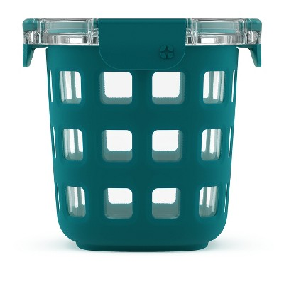 Ello 3 Cup Glass Meal Prep Bowl - Teal