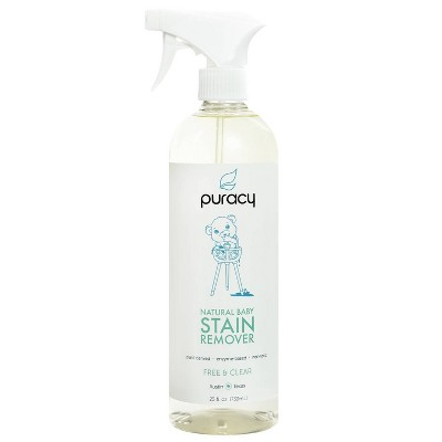 Puracy Natural Baby Laundry Stain Remover, Enzyme Odor Eliminator, Free & Clear - 25oz