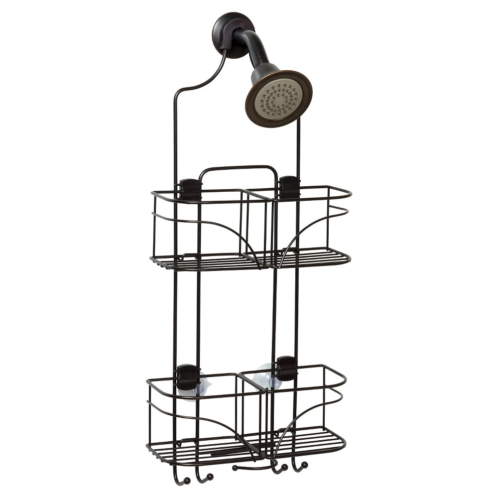 Zenna Home Expandable Rust-Resistant Shower Head Caddy - Oil Rubbed Bronze