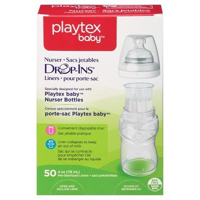 Playtex Baby Drop-Ins Liners For Playtex Baby Nurser Bottles 4oz - 50ct