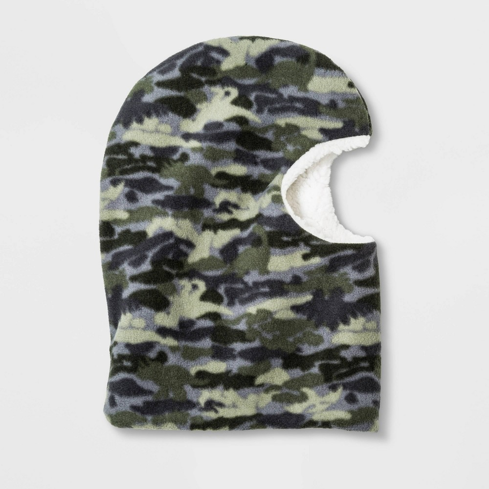 Boys' Fleece Balaclava - Cat & Jack Green Camo One Size, Boy's, Black thumbnail