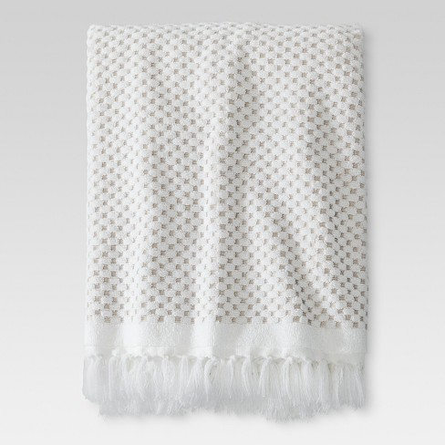 Knotted Fringe Bath Towels White Threshold Target