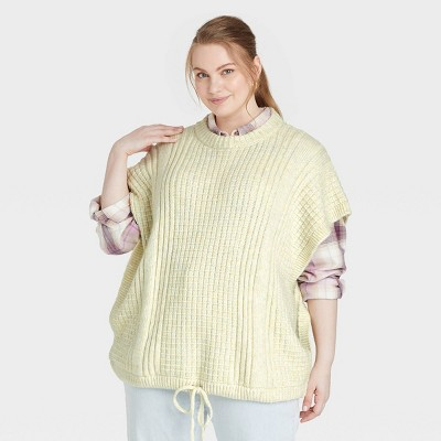 Women's Plus Size Knit Vest - Universal Thread™ Green One Size