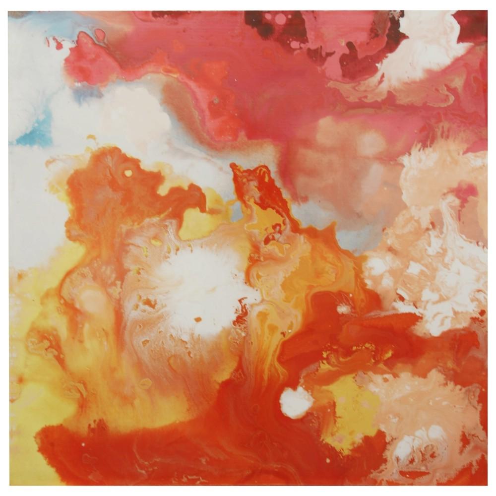 40 Contemporary Multi Colored Print Stretched Canvas Decorative Wall Art - StyleCraft, Multi-Colored
