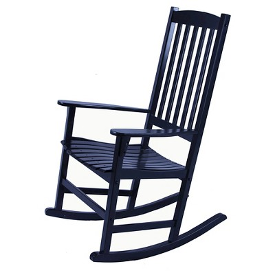 Willow Bay Patio Rocking Chair - Black