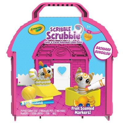 Crayola Scribble Scrubbie Pets Backyard Bungalow Set