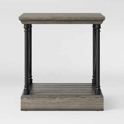 Conway Cast Iron Side Table Wood - Threshold™