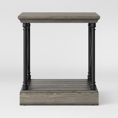 Conway Cast Iron Side Table Wood Threshold Target