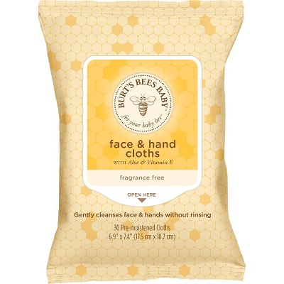 Burt's Bees Baby Face & Hand Cleansing Wipes - 30ct