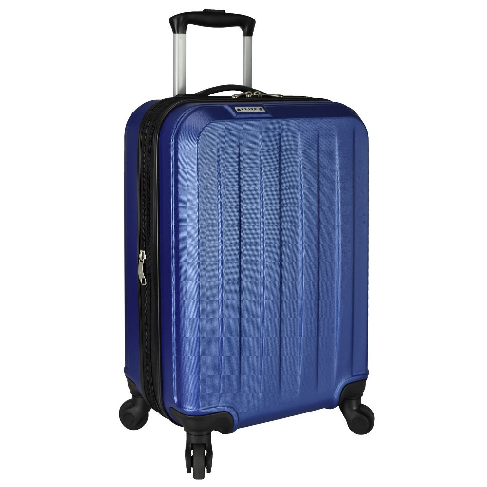"Image of ""Elite Luggage 21"""" Dori Expandable Suitcase - Navy, Blue"""